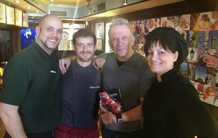Jean Paul Gaultier disfruta de la cocina de Gran Sol, en Hondarribia
