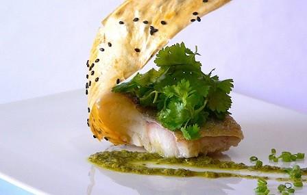 Bacalao marinado con limón y cilantro