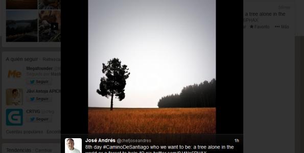 José Andrés recorre el Camino de Santiago
