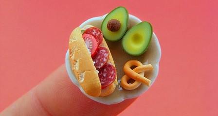 Comida en miniatura