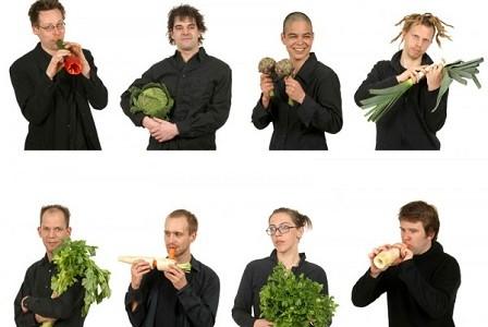 Una orquesta de verduras para celebrar el centenario del Mercado de San Miguel