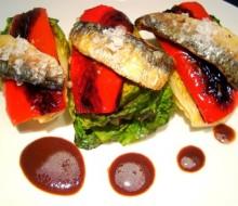 Cogollos con Sardinas y Pimiento Rojo