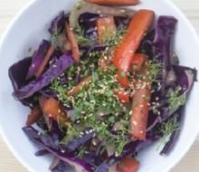 Salteado de verduras en wok