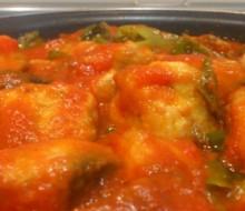 Receta de bonito frito con tomate