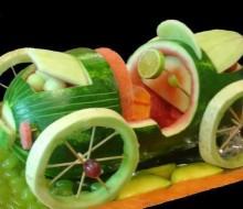 El mukimono o arte de tallar frutas y verduras