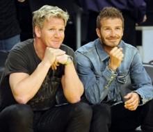 Gordom Ramsay y David Beckham, socios en el mundo gastronómico
