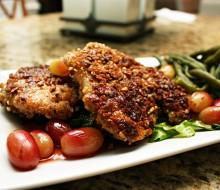 Pollo al horno con uvas
