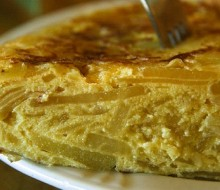 Tortilla con patata de Burgos