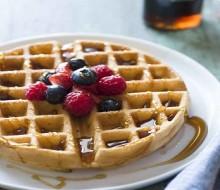 Waffles para desayuno o merienda