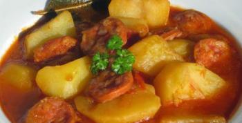 Receta patatas a la riojana