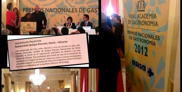 La Academia de Gastronomía premió a Ángel León y Pedro Monje