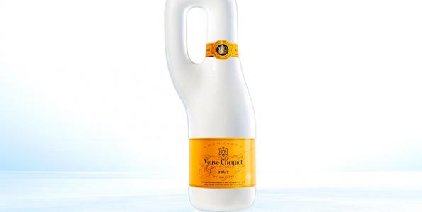 Champange de lujo en envase biodegradable