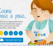 Nace un portal de cocina para jóvenes Down