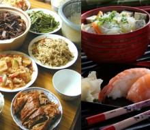 Diferencias entre la gastronomía china y japonesa