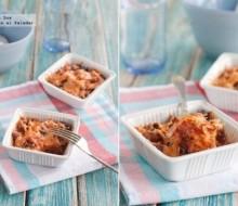 Gratinado de patatas al horno con salsa de tomate