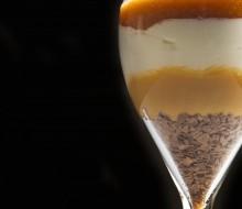Tarta de queso en copa