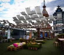 Golf, whisky y gastronomía en una terraza de Madrid